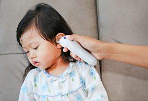 Fieberthermometer Messung Ohr