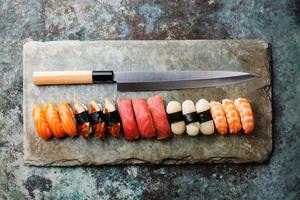 kochmesser japanisch fisch sushi schneiden