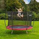 trampolin mit sicherheitsnetz