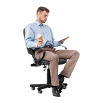 Armauflage-Bürostuhl